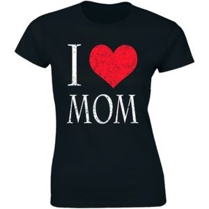 I Love Mom Mother's Day Gift Premium T-shirt Tee